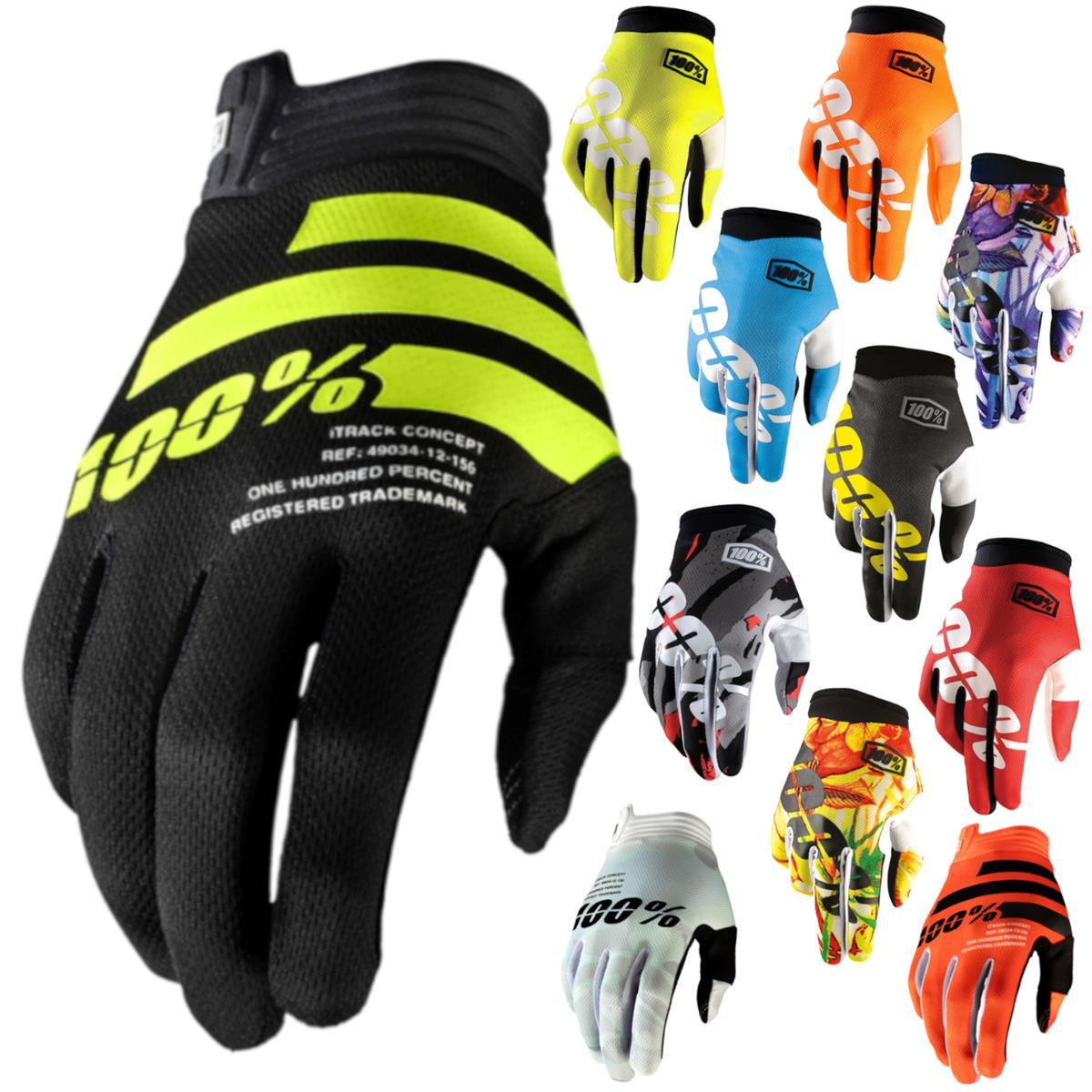 100/% iTrack Full Finger Herren Handschuhe LG Schwarz Charchoal