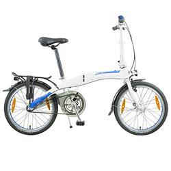 """Dahon Unisex Fahrrad Curve i3 Faltrad, Weiß Blau, 3 Gang, 20"""""""