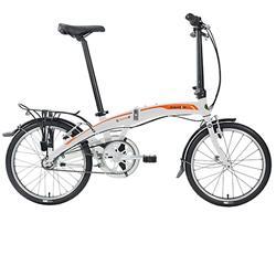 "Dahon Unisex Fahrrad Curve i3 Faltrad, Weiß Orange, 3 Gang, 20"""
