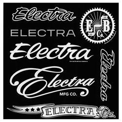 Electra Aufkleber Sticker Set Decal, Schwarz
