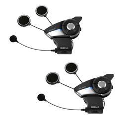 Sena Motorrad Kommunikationssystem 20S Evo Doppelset, Schwarz Silber