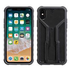 Topeak Handyhülle & Halterung RideCase Kompatibel mit Apple iPhone X, Schwarz