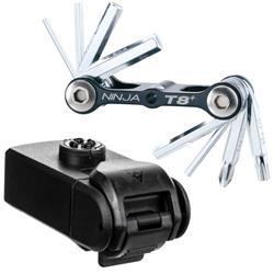 Topeak Multifunktionswerkzeug Ninja ToolBox T8 Kompatibel mit Ninja Cage Flaschenhaltern, Schwarz