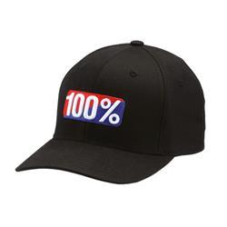 100% Unisex Kappe Classic X-Fit Flexfit Hat, Schwarz