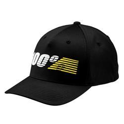 100% Unisex Kappe Starlight Flexfit Hat, Schwarz