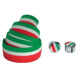 Cinelli Lenkerband Flag Ribbon, Grün Weiß Rot
