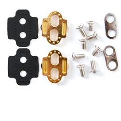 Crankbrothers Pedalplatten 2-Loch Premium Zero Float, Gold