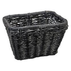 B-Ware: Electra Fahrradkorb Rattan Basket Rectangular, Schwarz