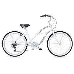 "Electra Damen Fahrrad Cruiser Lux 7D Beachcruiser, Weiß, 7 Gang, 26"""