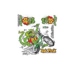 Electra Aufkleber Sticker Set Rat Fink, Grün