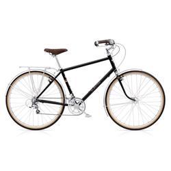 "Electra Herren Fahrrad Ticino 20D Trekkingrad, Schwarz, 20 Gang, Regular, 28"""