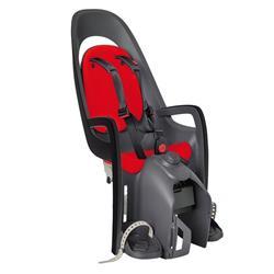 Hamax Kinder Fahrradsitz Hinten Caress, Grau Rot Schwarz
