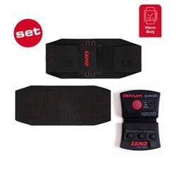 Lenz Heizbandage Heat Bandage 1.0 Lithium Pack 1200, Schwarz