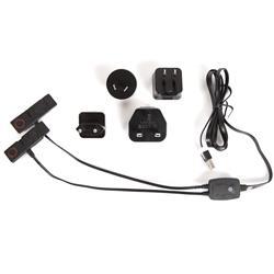 Lenz USB-Ladegerät mit 4 Netzadaptern, Schwarz