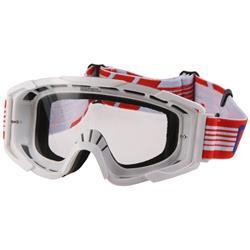 O'Neal Crossbrille B2 RL Goggle Threesixzero Clear, Weiß