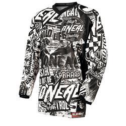 O'Neal Herren Jersey Element Racewear Wild, Schwarz