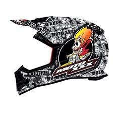 O'Neal Crosshelm Moto XXX OG Character, Schwarz