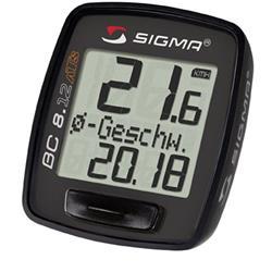 Sigma Sport Fahrradcomputer BC 8.12 ATS Topline, Schwarz