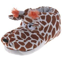 Tierhausschuhe Damen Hausschuhe Giraffe, Beige