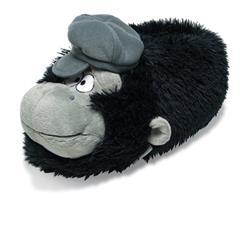 SAMs Kinder Tierhausschuhe Gorilla Mütze, Schwarz