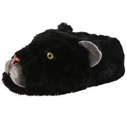 SAMs Herren Tierhausschuhe Panther, Schwarz