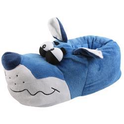 Tierhausschuhe Herren Hausschuhe Bulldogge Kullerauge, Blau