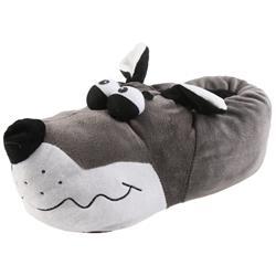 Tierhausschuhe Herren Hausschuhe Bulldogge Kullerauge, Grau