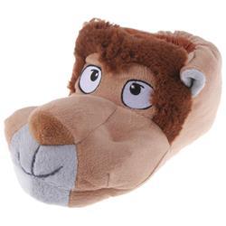Tierhausschuhe Herren Hausschuhe Löwe, Beige
