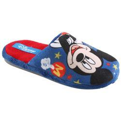 Tierhausschuhe Herren Hausschuhe Disney Micky Maus, Blau