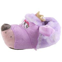 Tierhausschuhe Kinder Hausschuhe Hund Prinzessin, Lila