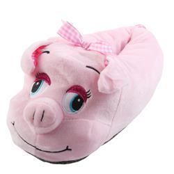 Tierhausschuhe Damen Hausschuhe Schweinchen, Rosa