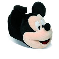 SAMs Kinder Hausschuhe Disney Micky Maus, Schwarz