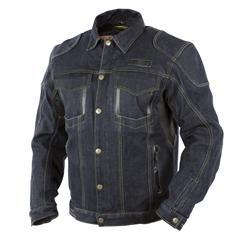 Trilobite Damen Jeans Motorradjacke Agnox, Schwarz