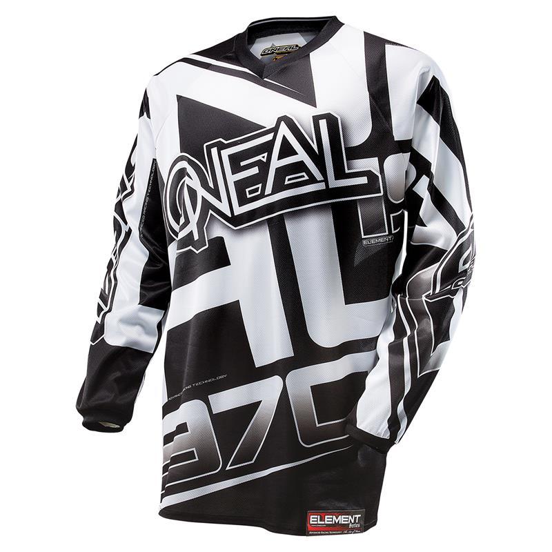 O'Neal Herren Jersey Element Racewear, Schwarz