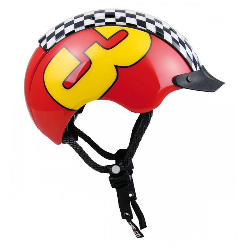 CASCO Kinder Fahrradhelm Mini Generation Racer 3, Rot Gelb