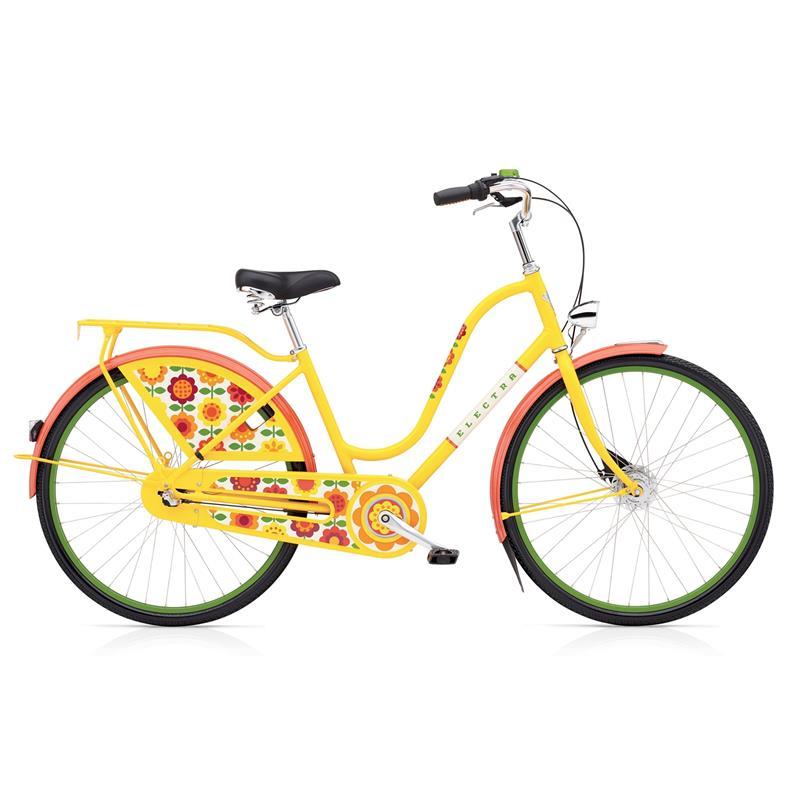 """Electra Damen Fahrrad Amsterdam Fashion 3i Forget Me Not Hollandrad, Gelb, 3 Gang, 28"""""""