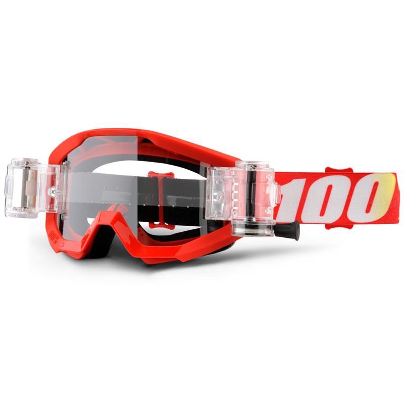100% Crossbrille Strata Mud SVS Goggle Roll Off Clear