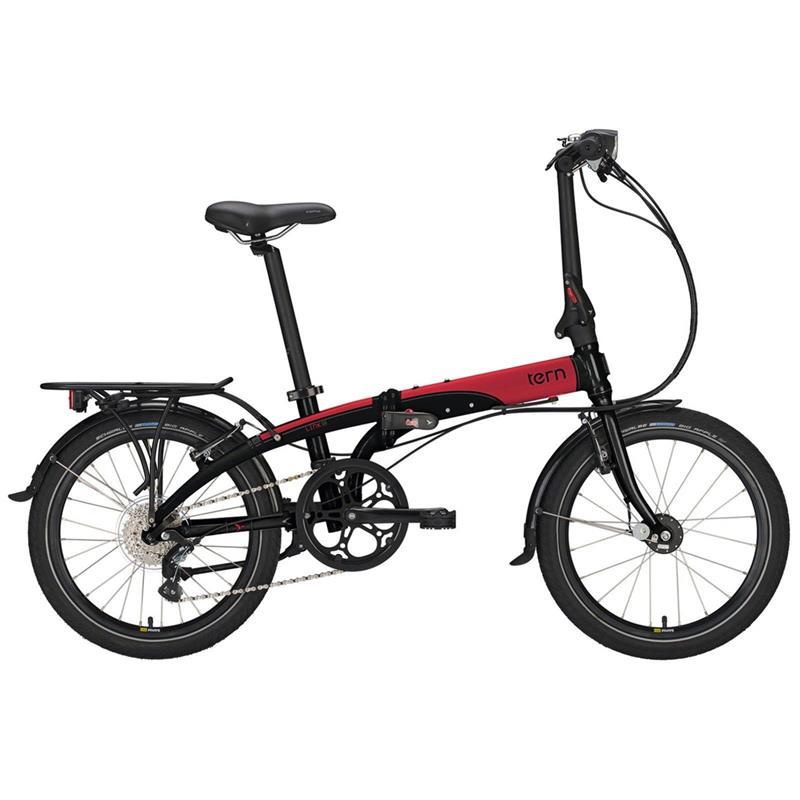 "Tern Unisex Fahrrad Link D8 Faltrad, Schwarz Rot, 8 Gang, 20"""