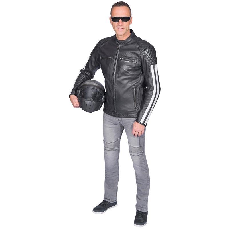 Germot Herren Motorradjacke Cruise, Schwarz