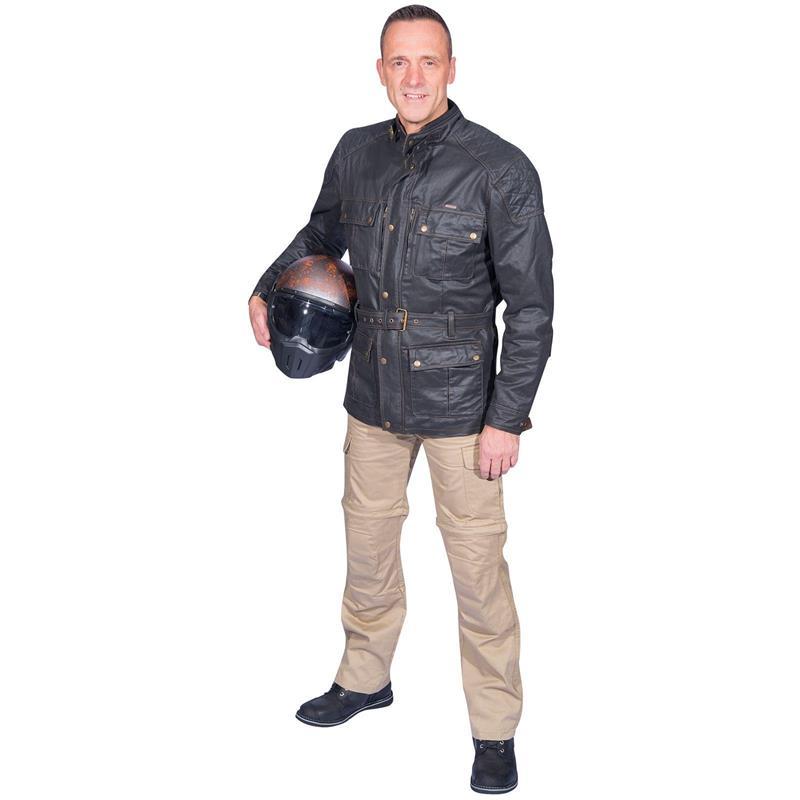 Germot Herren Motorradjacke Birmingham, Schwarz