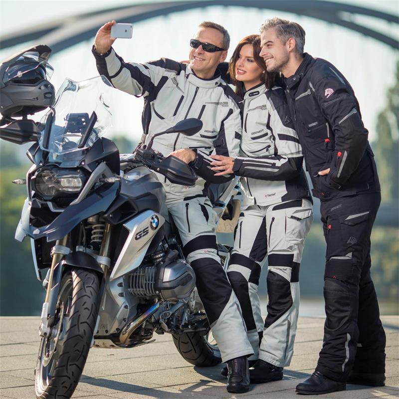 Germot Damen Motorradjacke Challenger, Grau