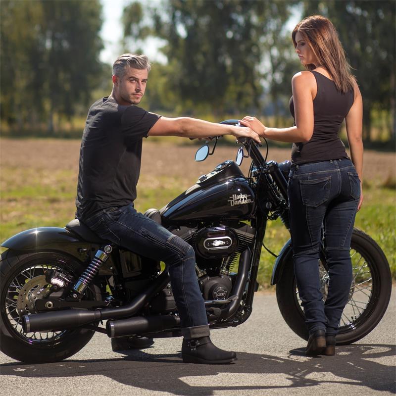 Germot Herren Motorradjeans Joe, Blau, L32