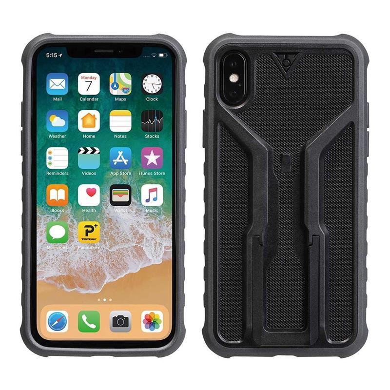 Topeak Handyhülle RideCase Kompatibel mit Apple iPhone X, Schwarz
