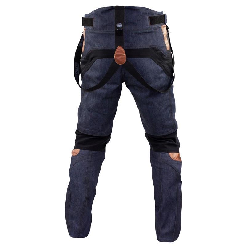 Trilobite Herren Motorradhose Airtech, Schwarz Blau
