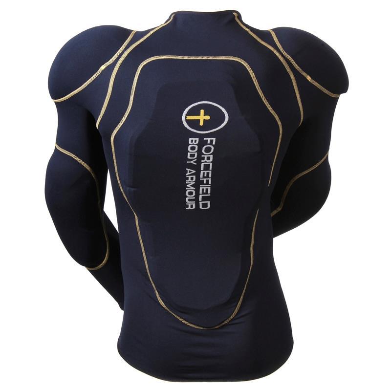 Forcefield Unisex Protektorenshirt Langarm Sport, Blau Gelb