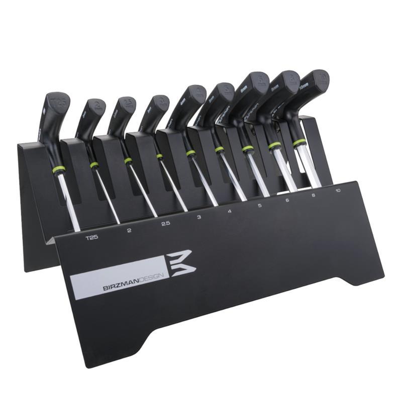Birzman Innensechsrund- & Innensechskantschlüssel T-Schlüssel 9 Teile, Schwarz