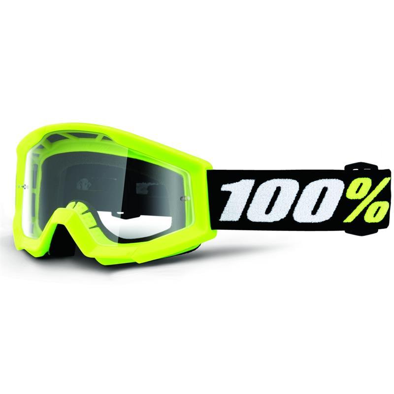 100% Kinder Crossbrille Strata Mini Goggle Clear