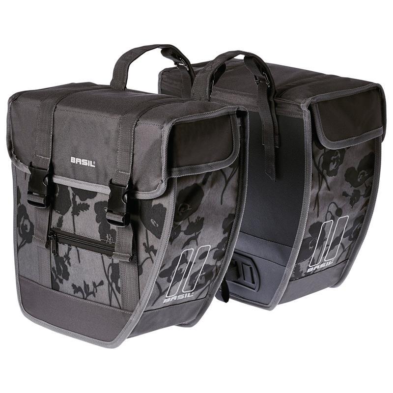 Basil Gepäckträger Tasche 26 Liter, Grau