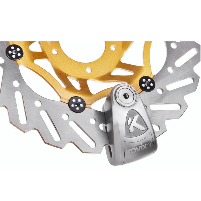 Kovix Alarmschloss Bremsscheibe KAL14 14 mm, Silber
