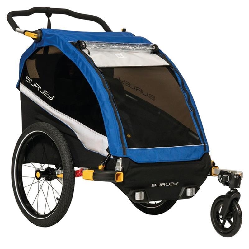 Burley Kinder Fahrradanhänger DLite, Blau